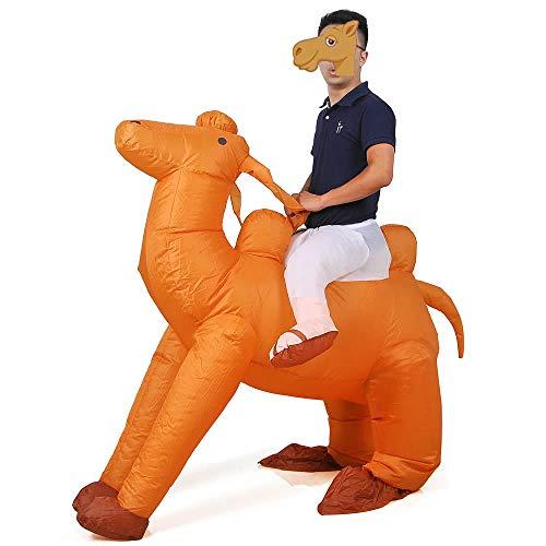 Inflatable Camel Costume Adutls Ride On Flamingo Halloween Costume Cosplay (Camel)