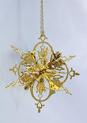 New Douglas John Inc 24K Gold Angel Snowflake Christmas -