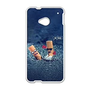 Dialogue of cigarette end fashion phone case for HTC One M7