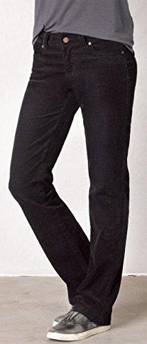 prAna Women's Tall Crossing Cord Pants, Size 4, Black
