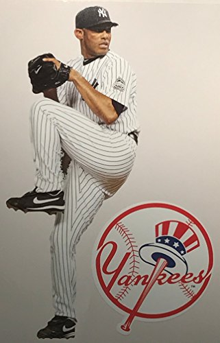 Mariano Rivera Mini FATHEAD + New York Yankees Logo Official MLB Vinyl Wall Graphics 7