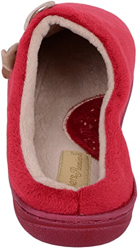 Chaussures Absolues Femmes Slip Sur Pantoufles / Mules / Chaussures Dintérieur Avec Bow Design Attrayant Bourgogne