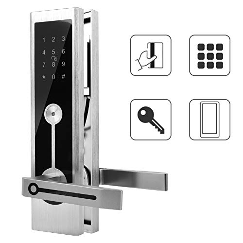 (Smart Door Lock Digital Keyless Bluetooth Lock Aluminum Alloy MI Card/Virtual Password/Mechanical Key/APP for Android 4.3 and iOS 7.0 for Home, Office, Hotel, Apartment)
