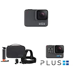 GoPro HERO7 Silver — Waterproof Digital Action Camera with Touch Screen 4K HD Video with Adventure Kit and Subscription with Monthly Auto-Renewal