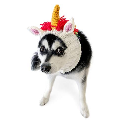 Zoo Snoods Unicorn Dog Costume - Neck and Ear Warmer Headband for Pets (Medium)]()