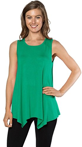 Women's Sleeveless Blouse (Green) - 1