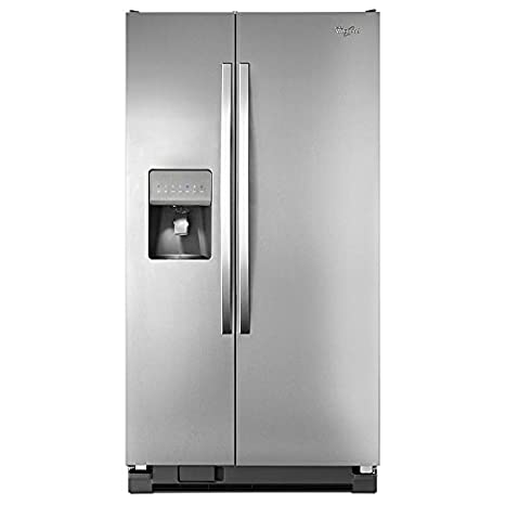 Kenmore 50023 25 cu  ft  Side-by-Side Refrigerator - Stainless Steel