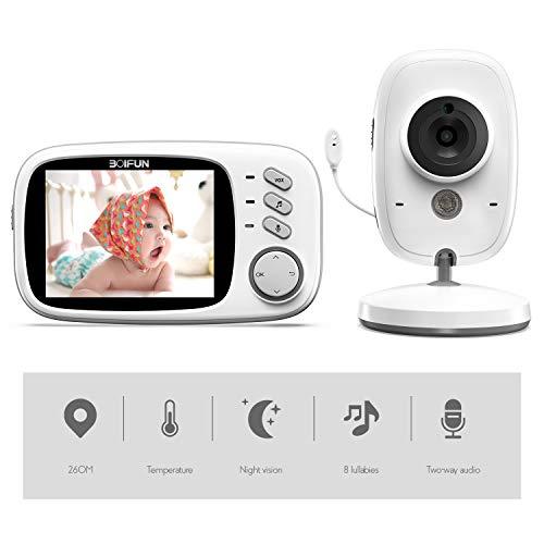 Baby Monitor, BOIFUN 3.2'' Baby Video Monitor