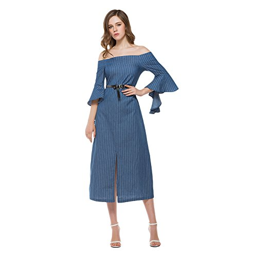 Blue Denim Dress - 3