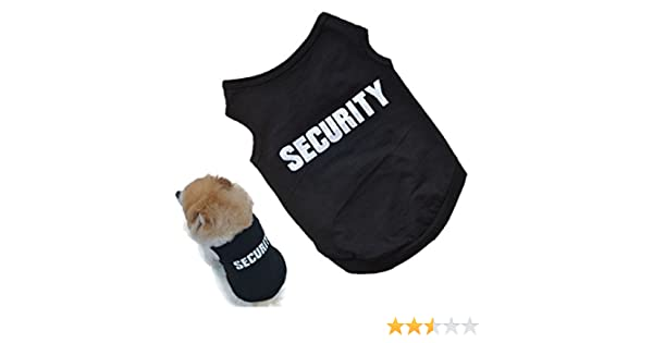 Amazon.com : 2016 Newly Design SECURITY Black Dog Vest Summer Pets Dogs Cotton Clothes Shirts Apparel Ropa para perros (XS) : Pet Supplies