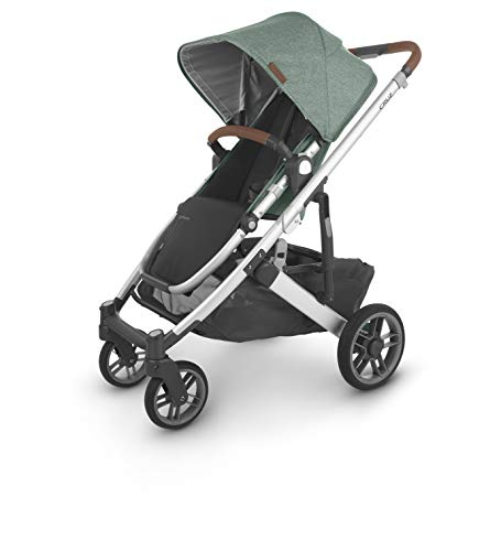 Cruz V2 Stroller – Emmett (Green Melange/Silver/Saddle Leather)