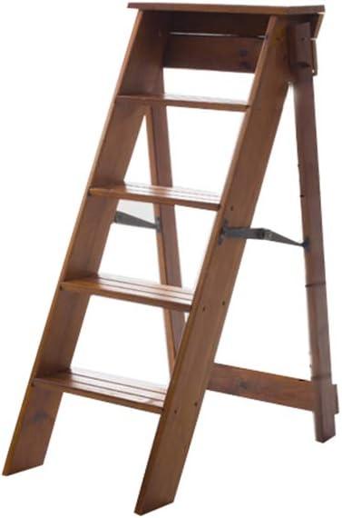 PILJ Escalera Escalera Plegable Escalera Multifuncional Taburete de Madera Maciza Plegable Escalera, Taburete de Paso Hogar Muliti de Color Escalera de Tijera Escalera Plegable Escalera: Amazon.es: Hogar