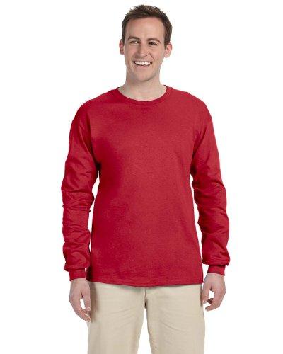 Jerzees 5,6oz., 50/50mezcla de peso pesado Camiseta (29M) rojo - rojo