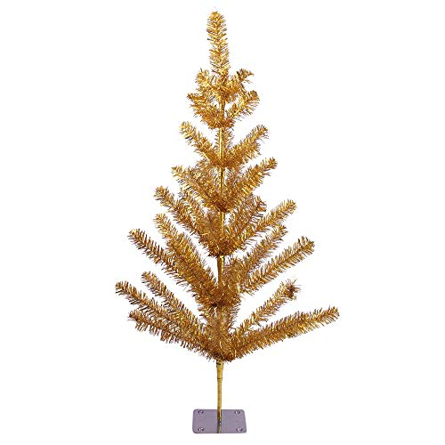 Northlight 3' Gold Tinsel Pine Artificial Christmas Twig Tree - Unlit ()