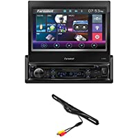 FARENHEIT TI895B 7 TV CD DVD USB SD AUX BLUETOOTH 300W AMPLIFIER CAR STEREO +License Plate Bolt-On Rear View Camera w/ Built-In I.R. Camera