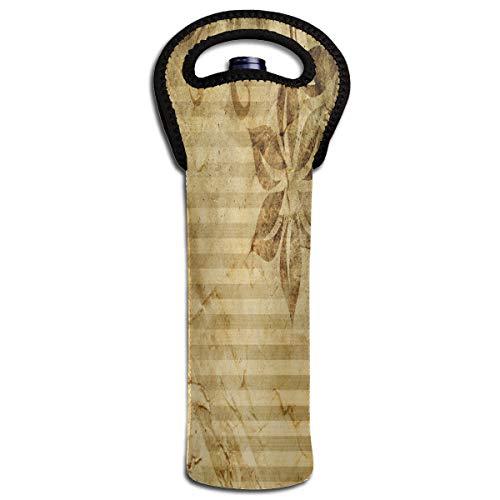 - Wine Bag Vintage Flower Pattern 1 Bottle Red Wine Tote Bag Cooler Single Water Travel Bag