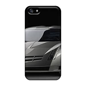 Flexible Tpu Back Case Cover For Iphone 5/5s - Cadillac Cien Concept 3