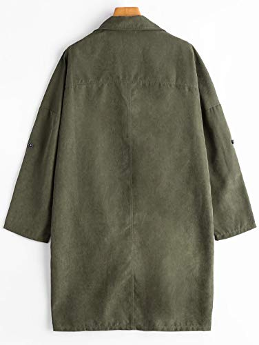 Cardigan En D'hiver Court Capuche Veste Green Chaud Printemps Scothen vent Manteau Vêtement Léger Casual Automne Peluche Femme Coupe Transition À wX6WWqO1U