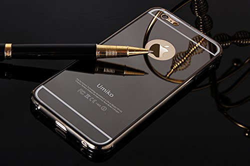 the best attitude 7c936 eda33 iPhone 6 Plus Mirror Case Black, Umiko(TM) LUXURY ALUMINUM ULTRA ...