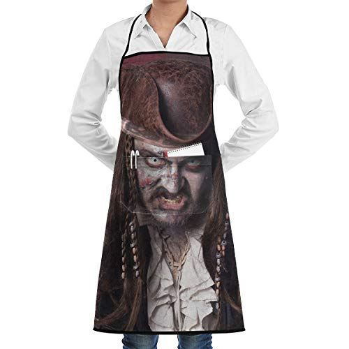 (Lao Yang Mai Spooky Pirate Halloween Zombie BBQ Waiter Housekeeper Pet Grooming Bartender Kitchen Beautician Hairstylist Nail Salon Carpenter Decorations Ornament Theme Pocket)
