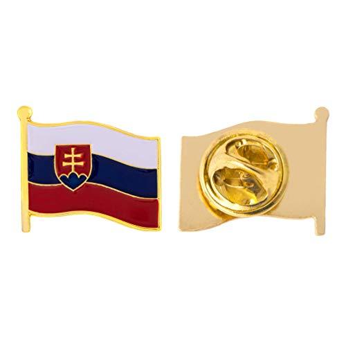 - Slovakia Country Flag Lapel Pin Enamel Made of Metal Souvenir Hat Men Women Patriotic (Waving Flag Lapel Pin)