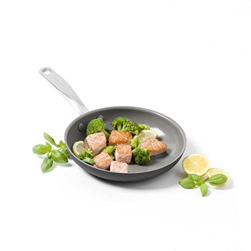 """GreenPan Chatham 8"""" ceramic Non-Stick Open Frypan, Grey"""
