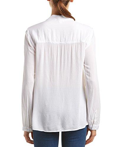 Splendid Womens Keyhole Neck Top, L, White