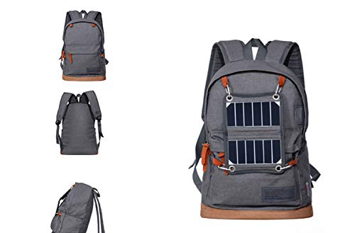 Backpack Blue Solar USB Charging Sports Solar Grey Outdoor Gray ZHANGQIAN Backpack pF0qP4