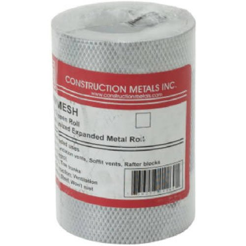 Construction Metals KM1220 Mesh Screening, 12'' by 20' by Construction Metals