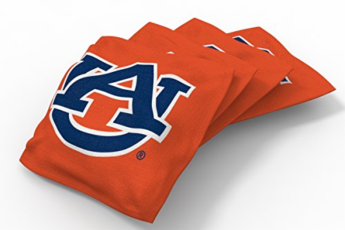 Wild Sports NCAA College Auburn Tigers Cornhole Bean Bag Set (8 Pack)