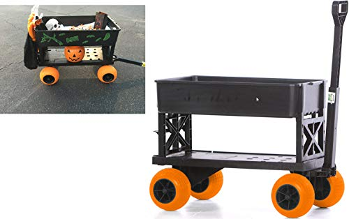Halloween Cart Pumpkin Patch Wagon Haul Trick or Treat Bags Candy Costumes -