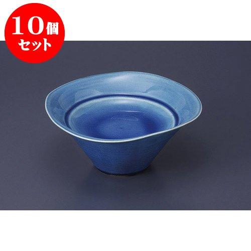 10個セット 向付 藍釉スタンドプレート [19 x 8cm] 【料亭 旅館 和食器 飲食店 業務用 器 食器】   B01N5QXYKV