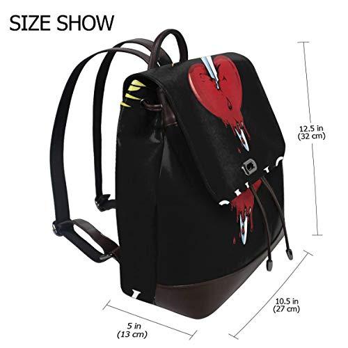 Bon Jovi Fashion Design Leather Backpack For Women Men College School Bookbag Weekend Travel Daypack (Bon Patch Jovi)