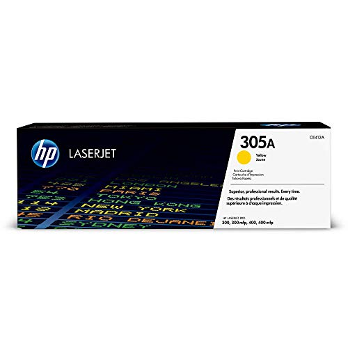 HP 305A  Yellow Original LaserJet Toner Cartridge - Yellow -
