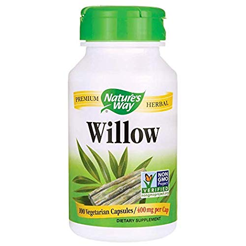 - Nature's Way Willow Bark, 400 mg, 100 cap