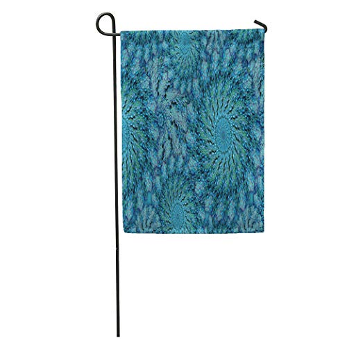 """Ablitt Garden Flags 12"""" x 18"""" Colorful Zoanthid Zoa Coral in Peacock Teal Feather Outdoor Decorative House Yard Flag"""