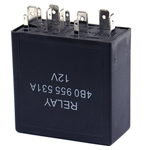 CITALL 377 Intermittent Wiper Motor Control Relay 11 Pin Fit for VW Golf Audi A4 4B0 955 531 ()
