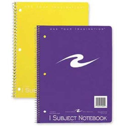 "Roaring Spring 1-Subject Spiral Bound Notebook, 8"" x 10-1/2"", College Ruled, 70 Sheets/Pad (25 Pads)"