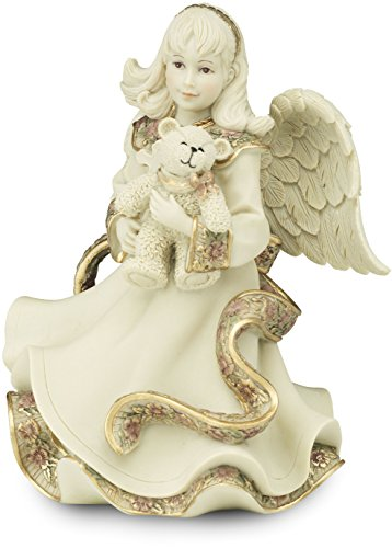 Sarah's Angels Tapestry Series Angel Holding Teddy Bear Figurine, (Angel Bear Figurine)
