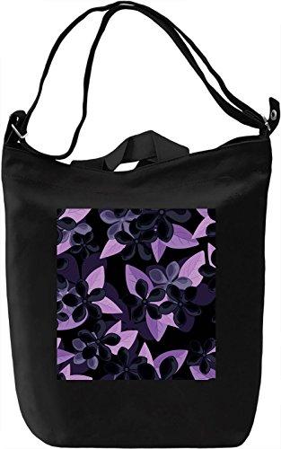 Flowers Print Borsa Giornaliera Canvas Canvas Day Bag  100% Premium Cotton Canvas  DTG Printing 
