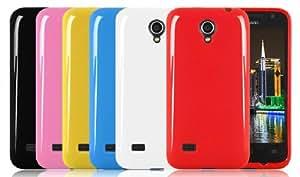 The Chic Geek Azul Huawei Ascend G330 U8825D Glossy Gel TPU Funda Caso
