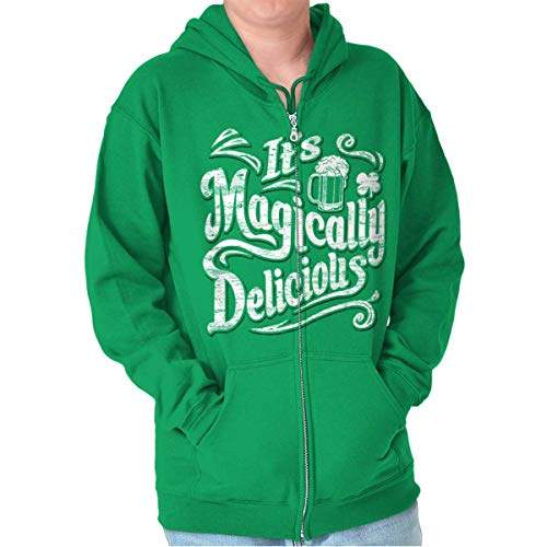 Magically Delicious St Patricks Day Beer Zip Hoodie Irish Green