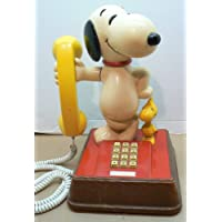 SNOOPY AND WOODSTOCK PHONE PUSH BUTTON DATED 1976