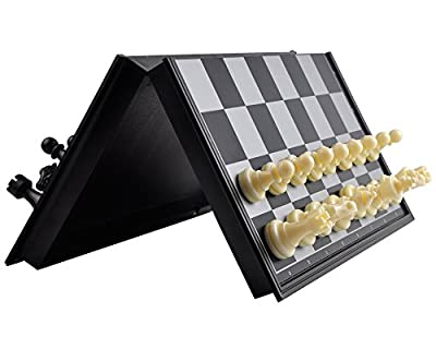 Magnetic Chess and Checkers Game Set: Best Travel Magnetic Chess Set - Lightweight & Durable - Ideal Easy to Carry Educational Toys for Kids and Adults