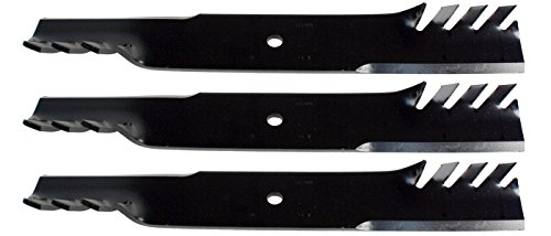 Low Lift Mower Blade - USA Mower Blades (3 CMB111BP Toothed Low Lift Blade Fits Ferris Kees Lesco Snapper Wright 1520842 823006 0788 50170 Length 21 in. Width 3 in. Thickness .250 in. Center Hole 5/8 in. 60 61 in. Deck