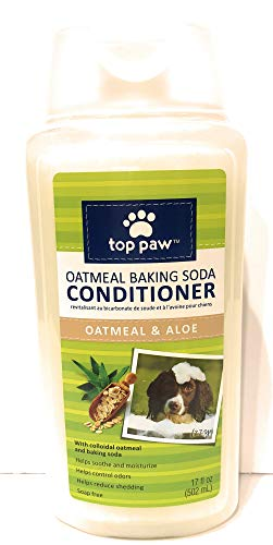 TOP PAW Oatmeal Aloe Baking Soda Dog Pet Conditioner Odor Control Soap Free, 17 oz