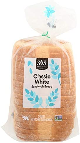 365 by Whole Foods Market, Sandwich Bread, Classic White (17 Slices), 24 Ounce