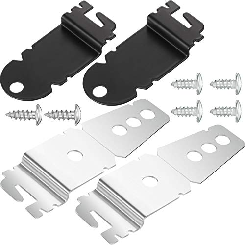 Hotop 2 Packs 8212560 Dishwasher Side Mounting Brackets and 4 Packs Black Installation Screws, 2 Packs 8269145 Dishwasher Upper Mounting Brackets and 2 Packs Sliver Installation - Mounting Bracket Side