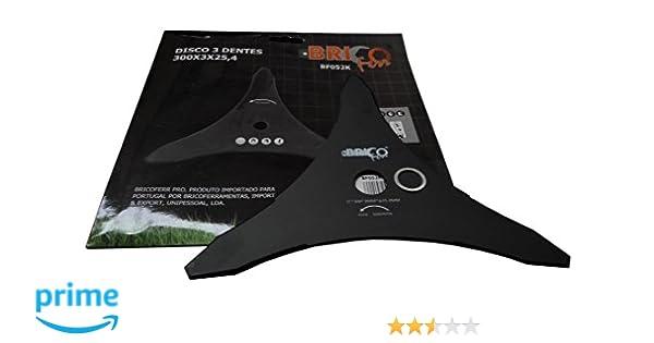 Bricoferr BF052K Disco cuchilla de 3 puntas semi-profesional para desbrozadora