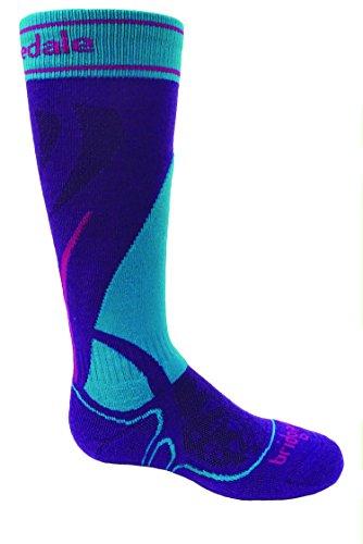 (Bridgedale Junior Vertige Race Socks, Purple/Turquoise, X-Large)